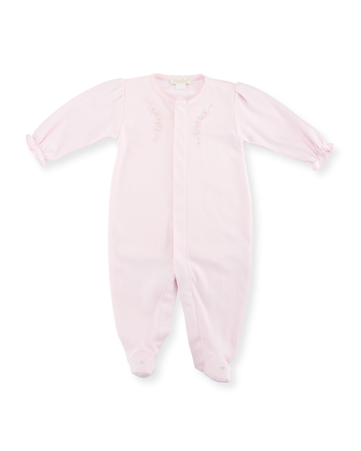 Fall Vines Pima Footie Pajamas, Pink, Size 0-9 Months