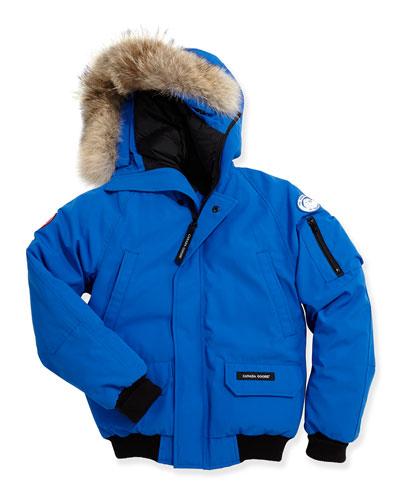 Kids' PBI Chilliwack Hooded Fur-Trim Parka, Royal Blue, Size XS-XL