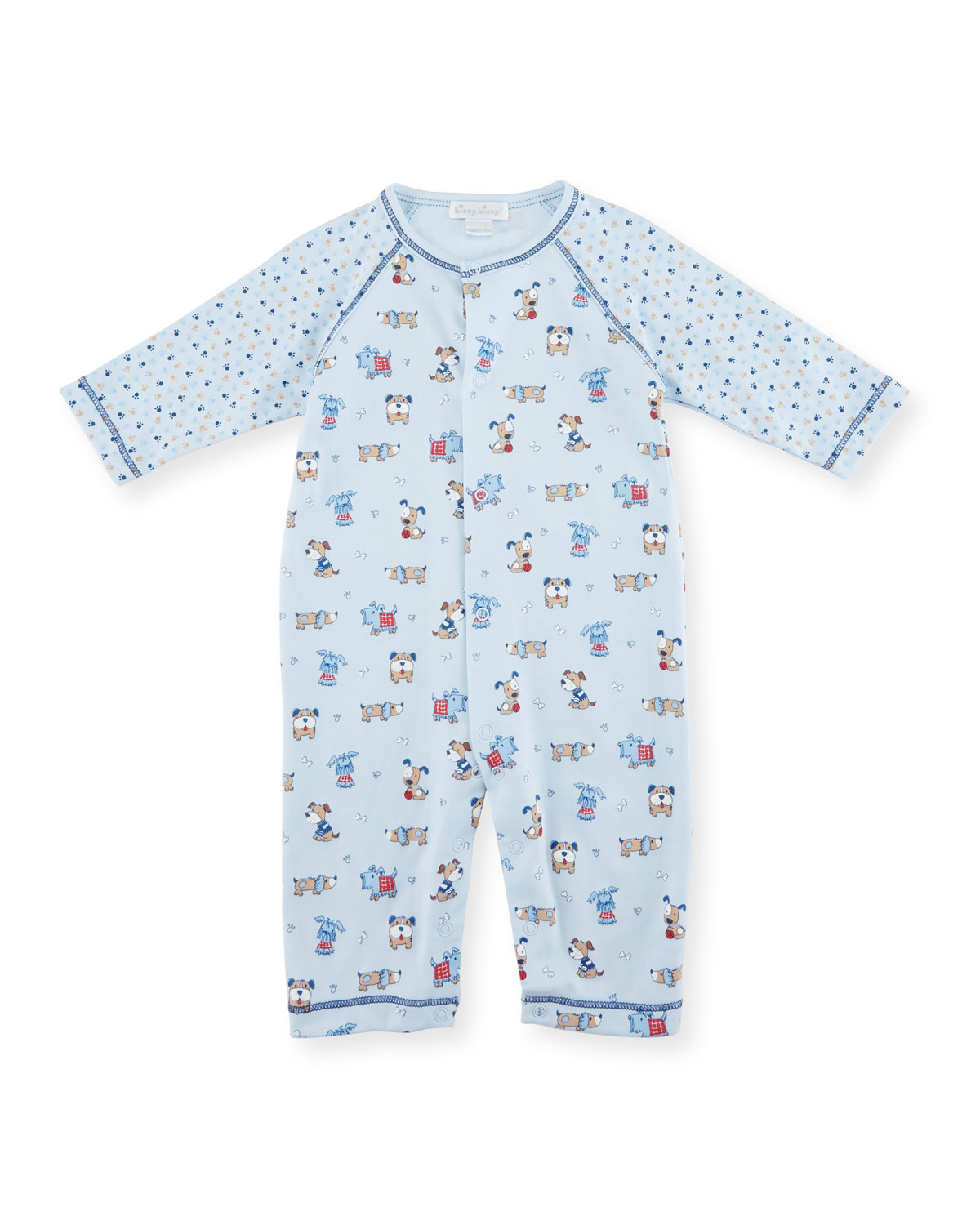 Sweater Weather Printed Coverall, Light Blue, Size 0-18 Months