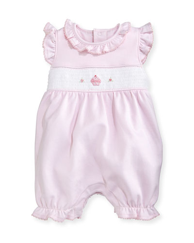 Sweet Cupcakes Pima Overall Playsuit, Pink, Size 0-9 Months