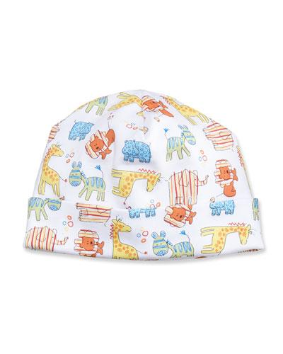 Born to Run Animal Printed Baby Hat, Yellow