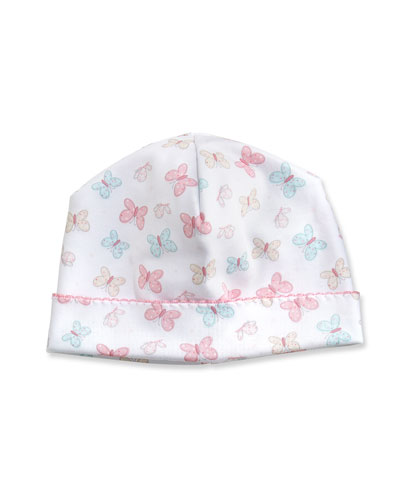 Owfully Cute Printed Baby Hat, Pink