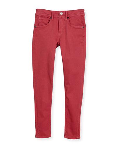 Skinny Stretch Denim Jeans, Pink, Size 4-14