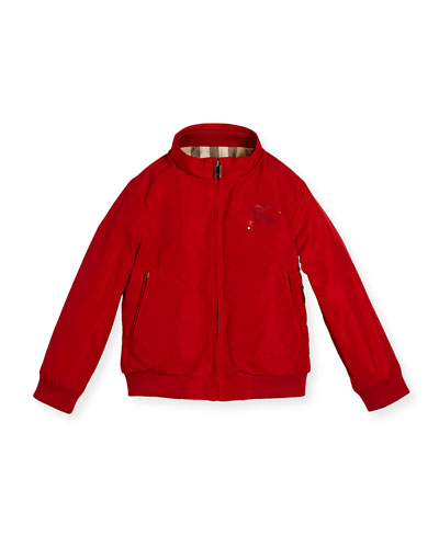 Bradford Zip-Front Jacket, Red, Size 4-14