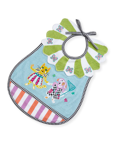 Toddlers' Bow Wow Meow Terry Bib