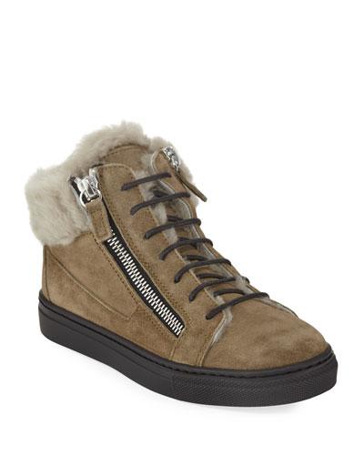 b017f89fcdc Lace Up Suede Trim Shoes   bergdorfgoodman.com