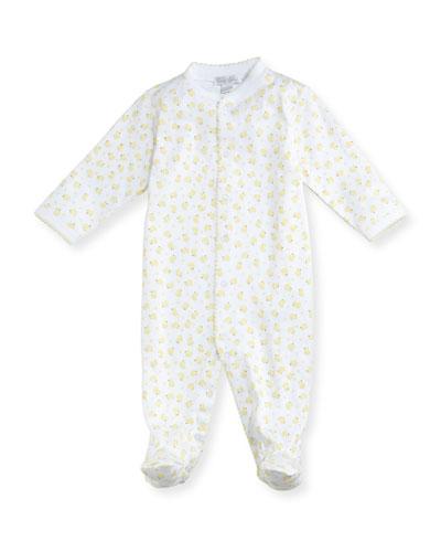 Duck-Print Footie Pajamas, Size 0-9 Months