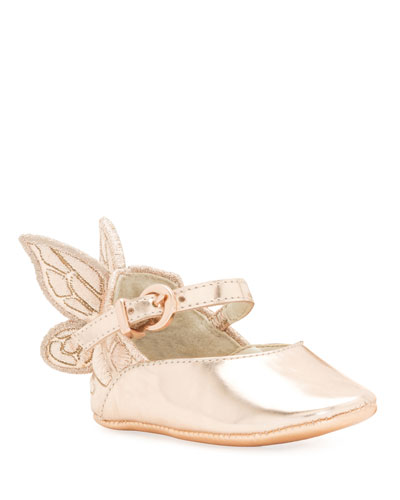 Chiara Butterfly-Wing Flat, Pink, Infant