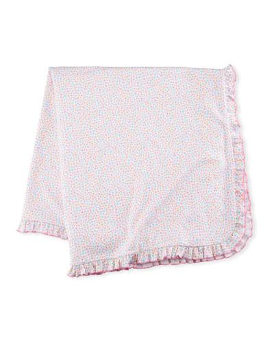 Darling Dachshunds Pima Blanket, Pink