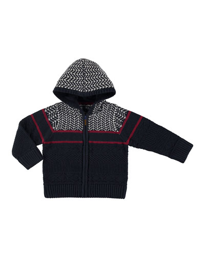Knit Zip-Up Jacket, Size 3-7