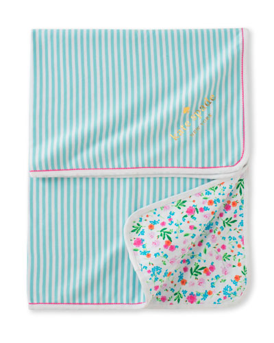 wildflower & striped blanket