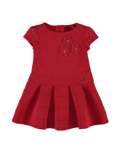 Embellished Flower Dress, Size 3-7