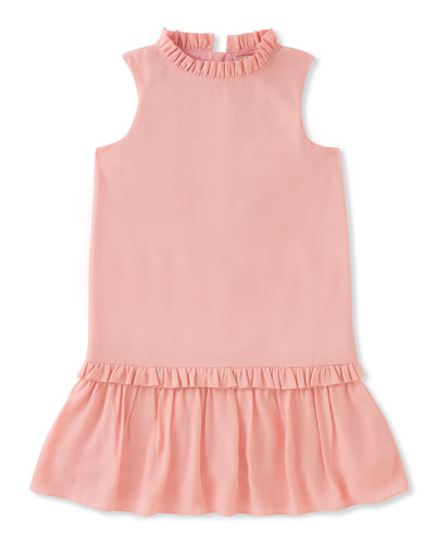 infant girls' ruffle collar dress, size 12-24 months