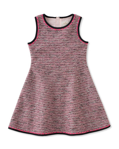 knit tweed dress, size 2-6
