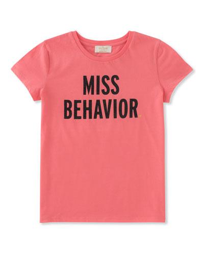 miss behavior tee, size 2-6