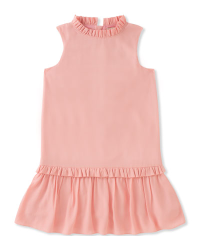 girls' ruffle collar dress, size 7-14