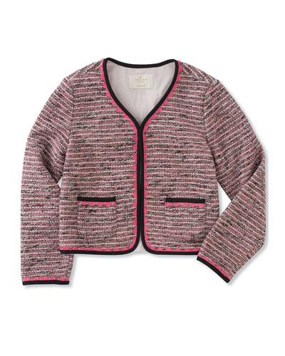 girls' knit tweed jacket, size 7-14