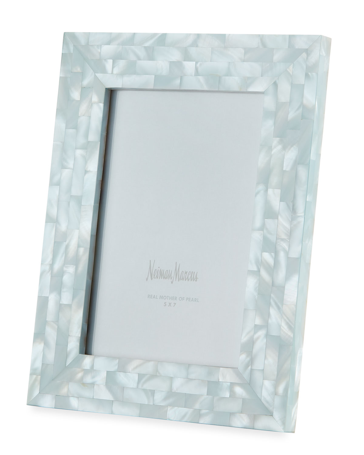 "The Jws Collections MOTHER-OF-PEARL PICTURE FRAME, BLUE, 5"" X 7"""