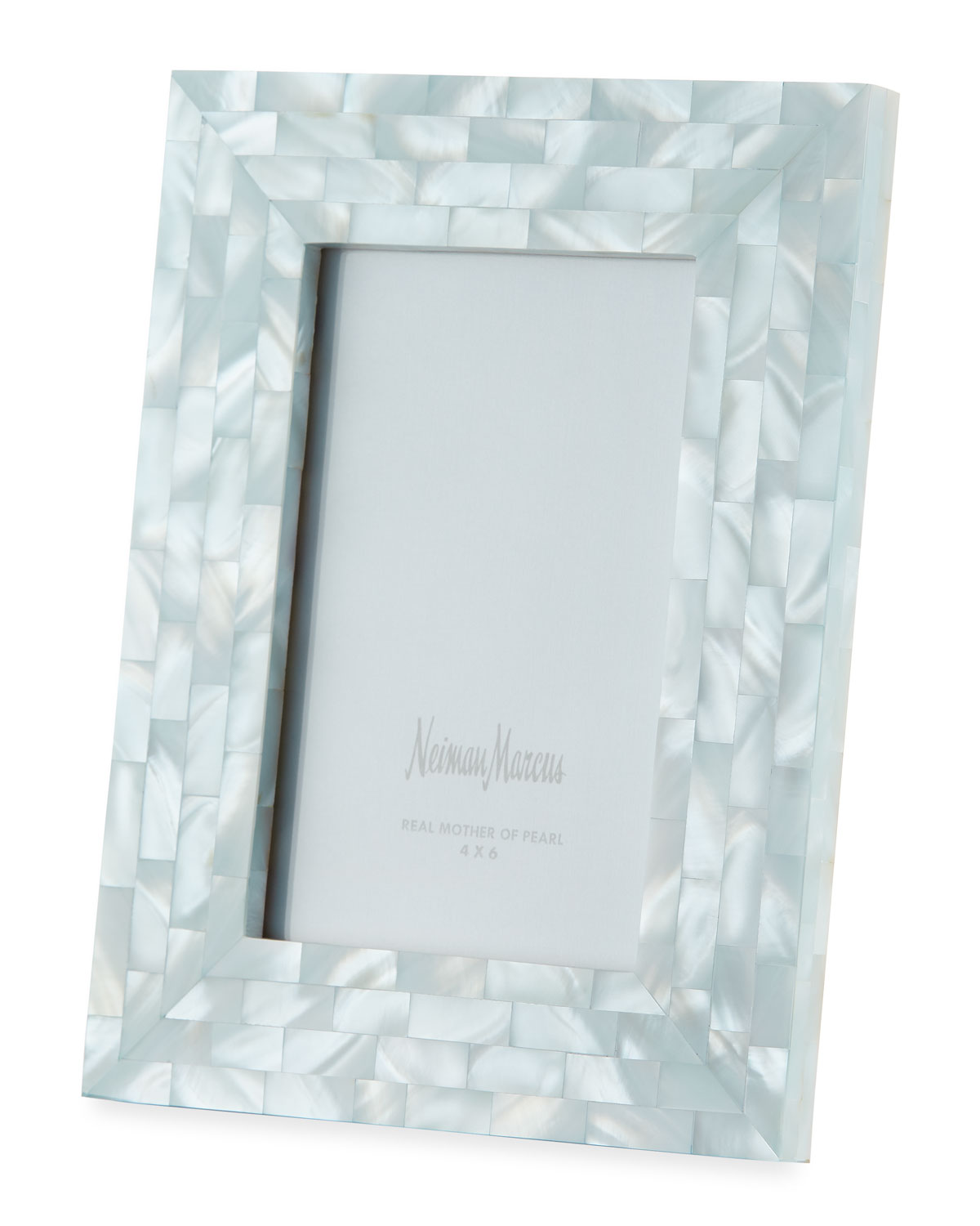 "The Jws Collections MOTHER-OF-PEARL PICTURE FRAME, BLUE, 4"" X 6"""