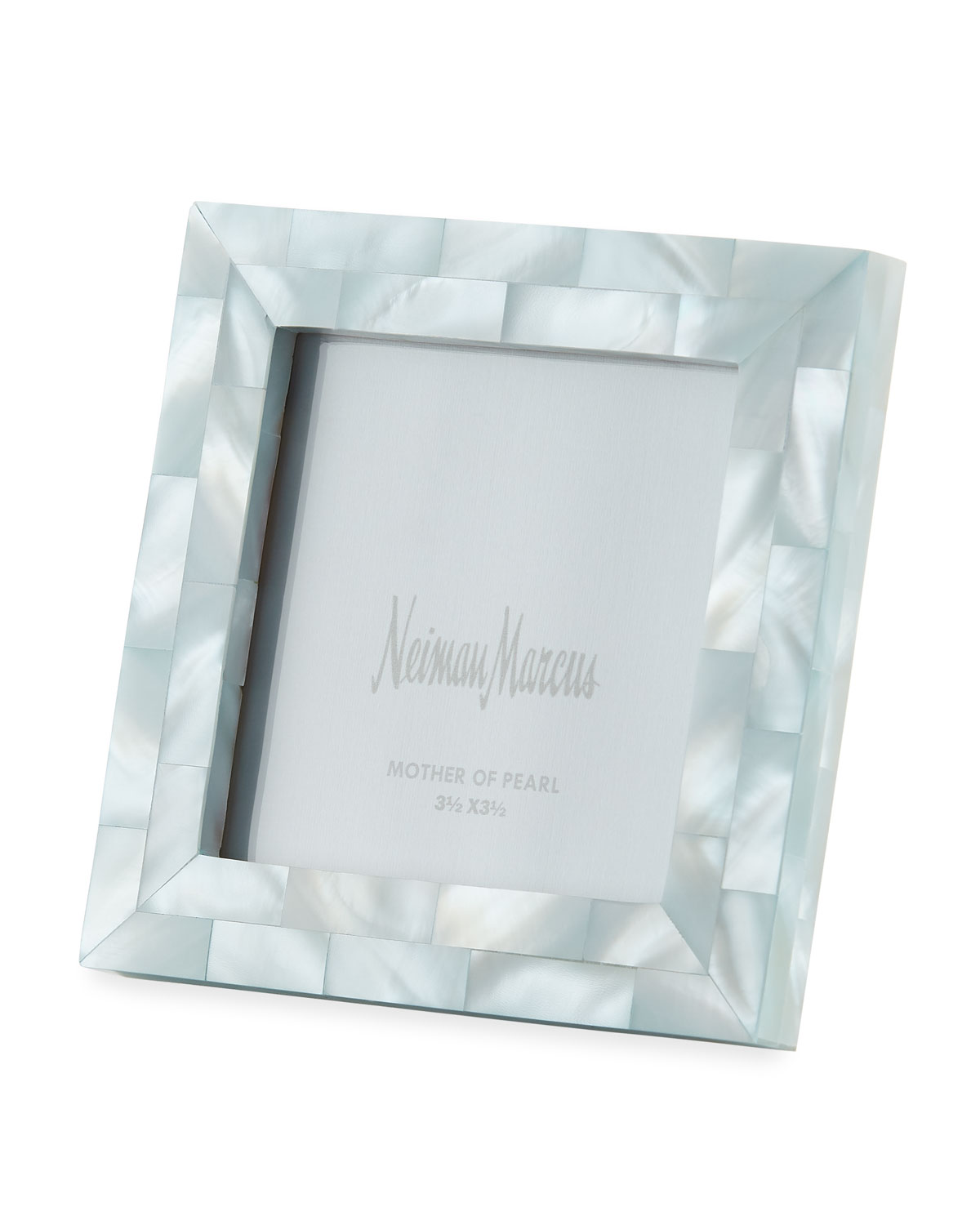 "The Jws Collections MOTHER-OF-PEARL PICTURE FRAME, BLUE, 3.5"" X 3.5"""
