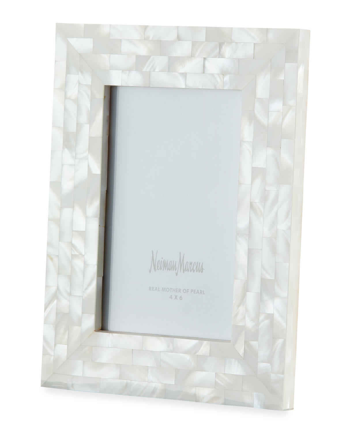 "The Jws Collections MOTHER-OF-PEARL PICTURE FRAME, WHITE, 4"" X 6"""