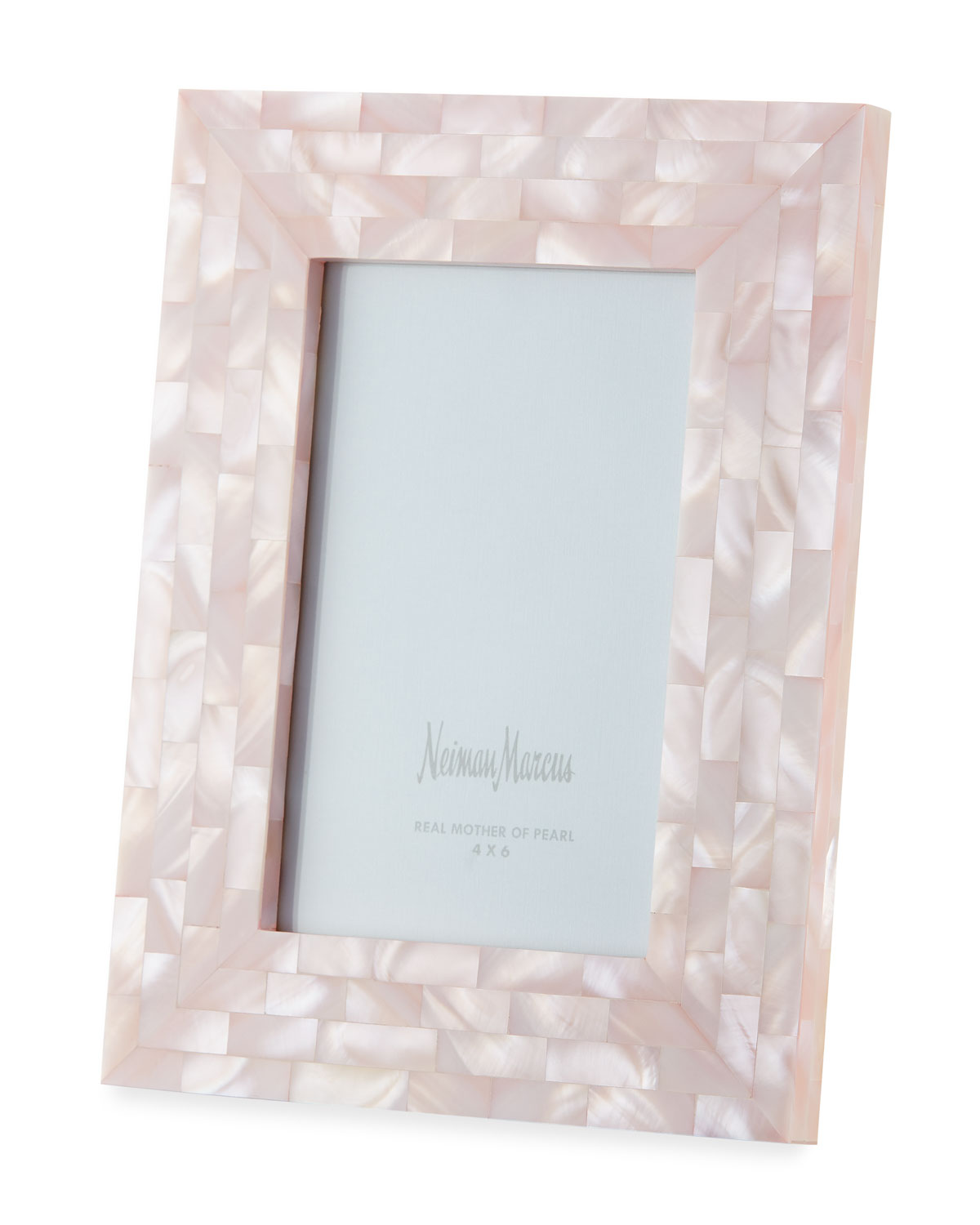 "The Jws Collections MOTHER-OF-PEARL PICTURE FRAME, PINK, 4"" X 6"""