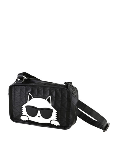Girls' Stitched Shoulder Bag w/ Choupette Detail