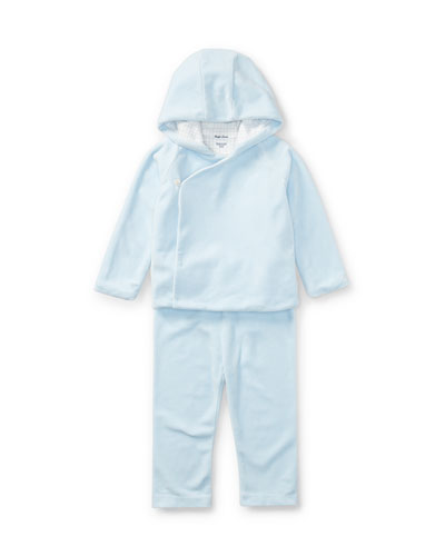 Boys' Velour Hooded Jacket w/ Pants, Size 9-24 Months