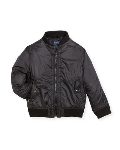 Ripstop Bomber Jacket, Size 2-4