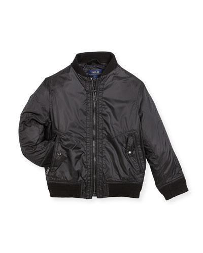 Ripstop Bomber Jacket, Size 2-4