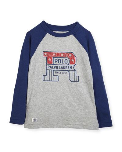 Slub Jersey Cotton Baseball T-Shirt, Size 2-4