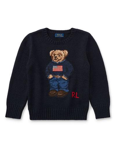 Cotton Bear Sweater, Size 5-7