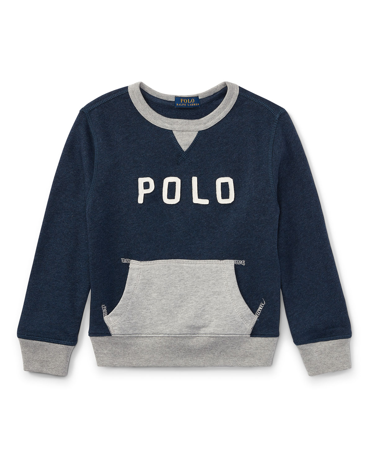 Lightweight Terry Two-Tone Graphic Sweatshirt, Size 5-7