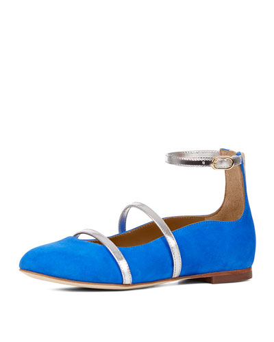 Robyn Suede Ankle-Strap Flat, Toddler/Youth