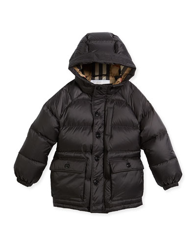 Lachlan Hooded Puffer Jacket, Size 4-14