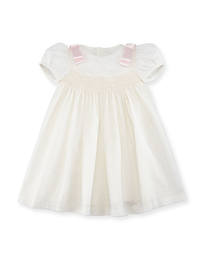 Ribbon Dotted-Tulle Dress, Size 2-4T
