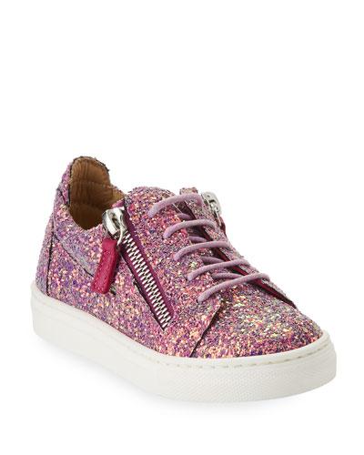 Mattaglitt Glitter Low-Top Sneaker, Infant