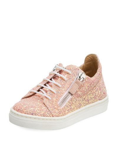 Mattaglitt Glitter Low-Top Sneaker, Toddler