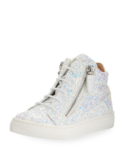 Mattglitt Hitop Glitter High-Top Sneaker, Infant
