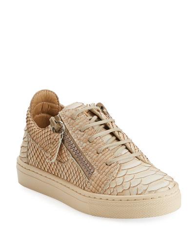 Dorian Faux Snake Sneaker, Infant