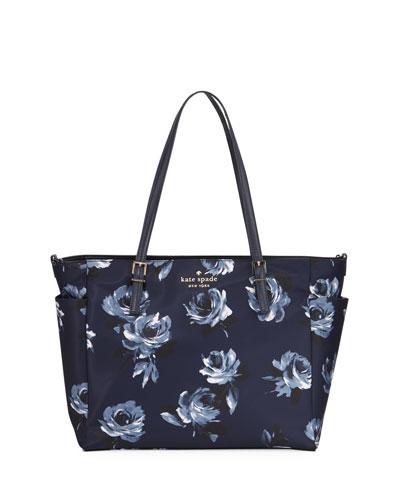 watson lane betheny rose-print baby bag