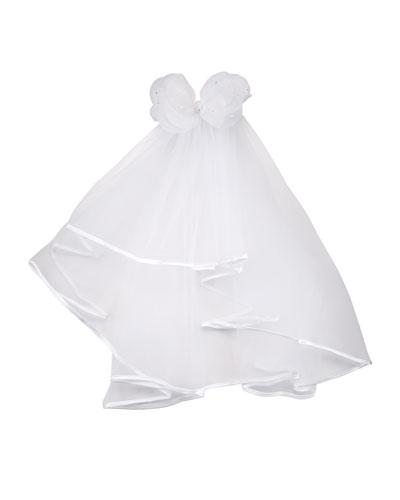 Bari Lynn Sheer Veil w/ Pearls on Bow