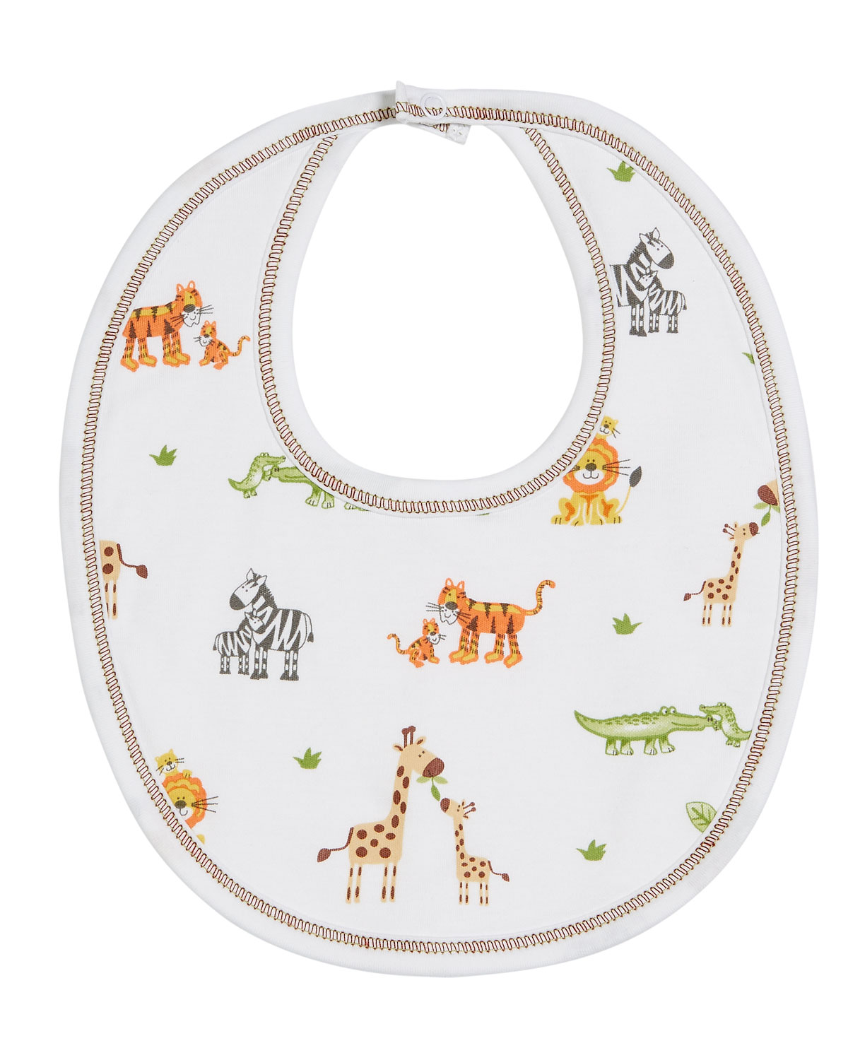 Jolly Jungle Printed Pima Bib