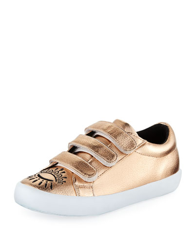 Winking Eye Metallic Sneakers, Kids