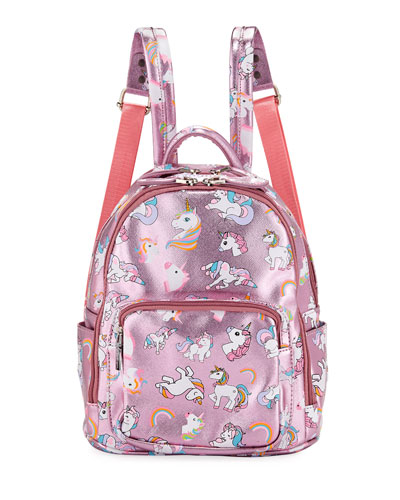Girls  Metallic Faux-Leather Unicorn Mini Backpack c9ff05b3f74a6