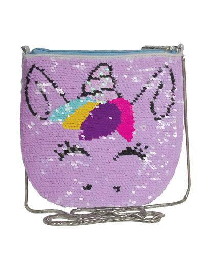 Kids' Unicorn Flip Sequin Crossbody Bag