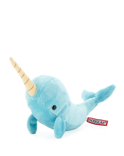 Spike Turquoise Narwhal Stuffed Animal, 12
