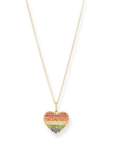Kids' Rainbow Heart Necklace