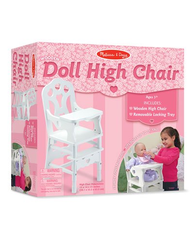 Melissa & Doug Wooden Doll High Chair