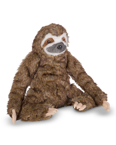 Sitting Stuffed Plush Lifelike Sloth